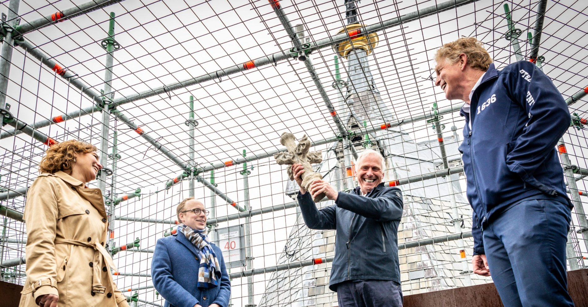Van links naar rechts: Mirjam Schmull (Brokkenmákers), wethouder Eelco Eerenberg (gemeente Utrecht), Bart Kaptein (Stichting Utrechts EigenDom), Cor Jansen (Utrecht Marketing)